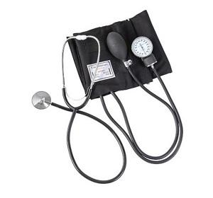 ciśnieniomierz manualny z analogowym zegarem