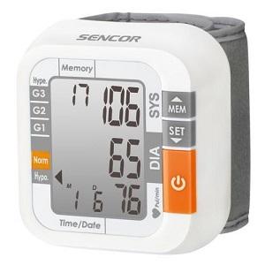 ciśnieniomierz nadgarstkowy Sencor SBD 1470 z elektronicznym wyświetlaczem i automatycznym pompowaniem